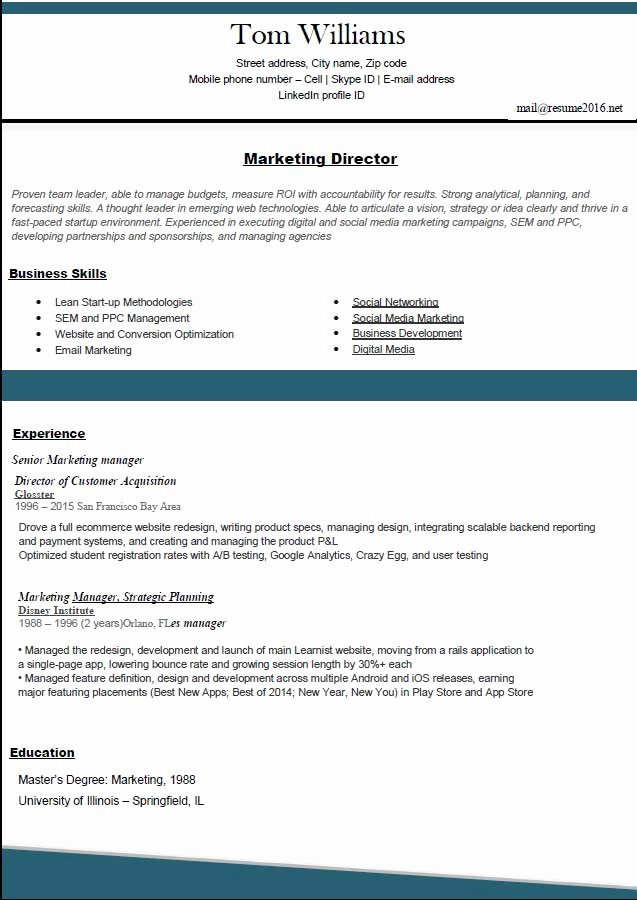 Best Resume format 2016 2017 How to Land A Job In 10