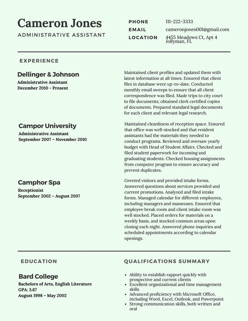 Best Resume format 2017 Template