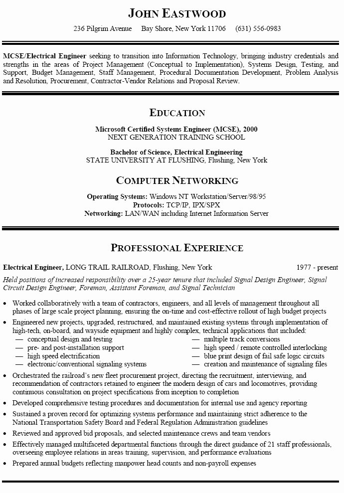 best resume format career change