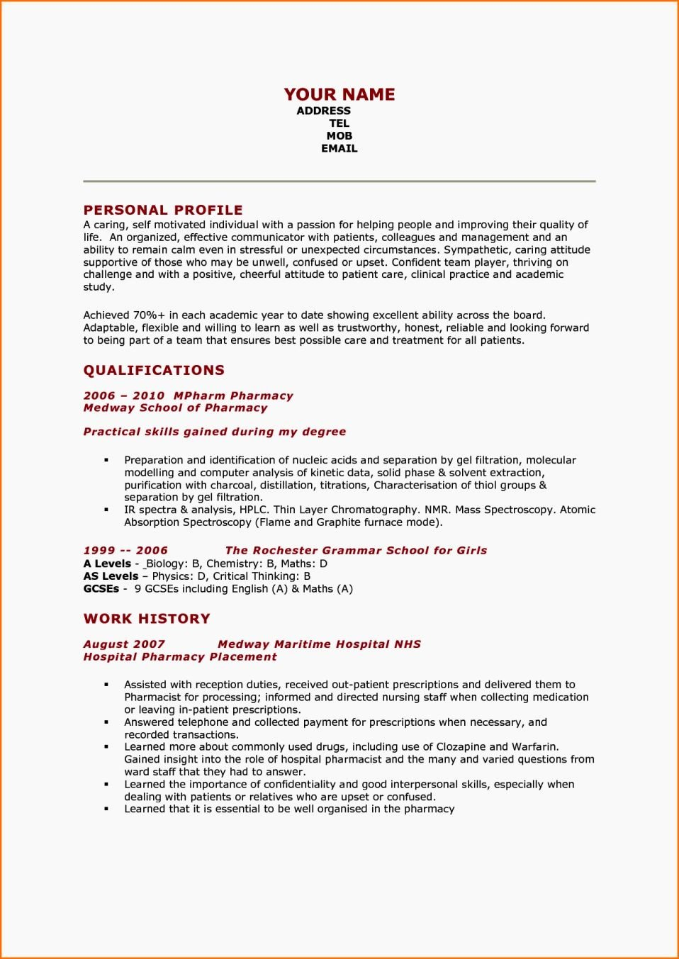 Best Resume format Pharmacist Plks