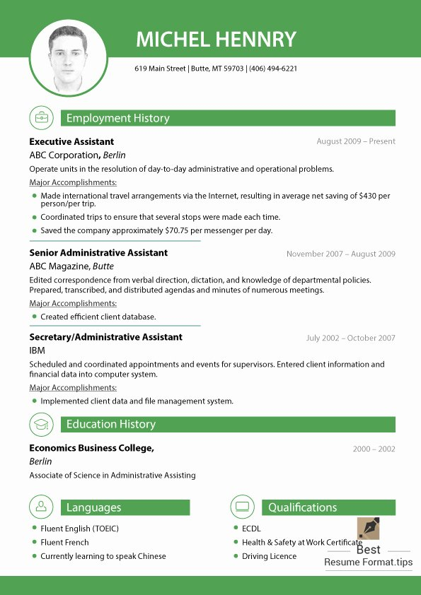 Best Resume formats 2016 Free Samples