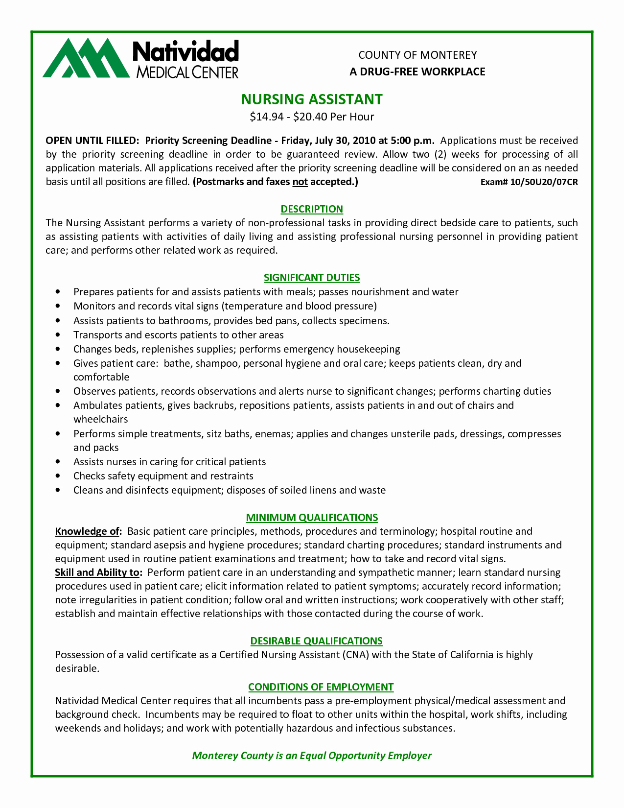 Best Resume Template Cna Examples for College Admission