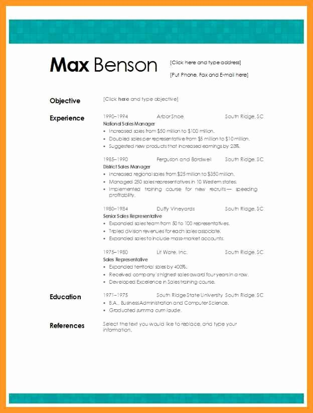 Best Resume Template Microsoft Word
