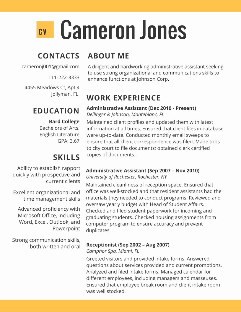 Best Resume Templates 2017 Best Resume Examples 2018 Line