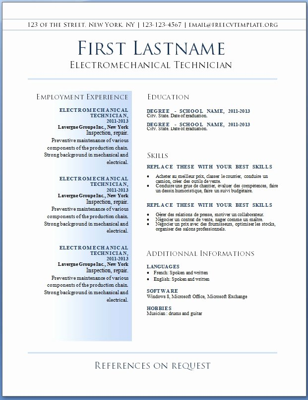 Best Resume Templates Free Best Resume Gallery