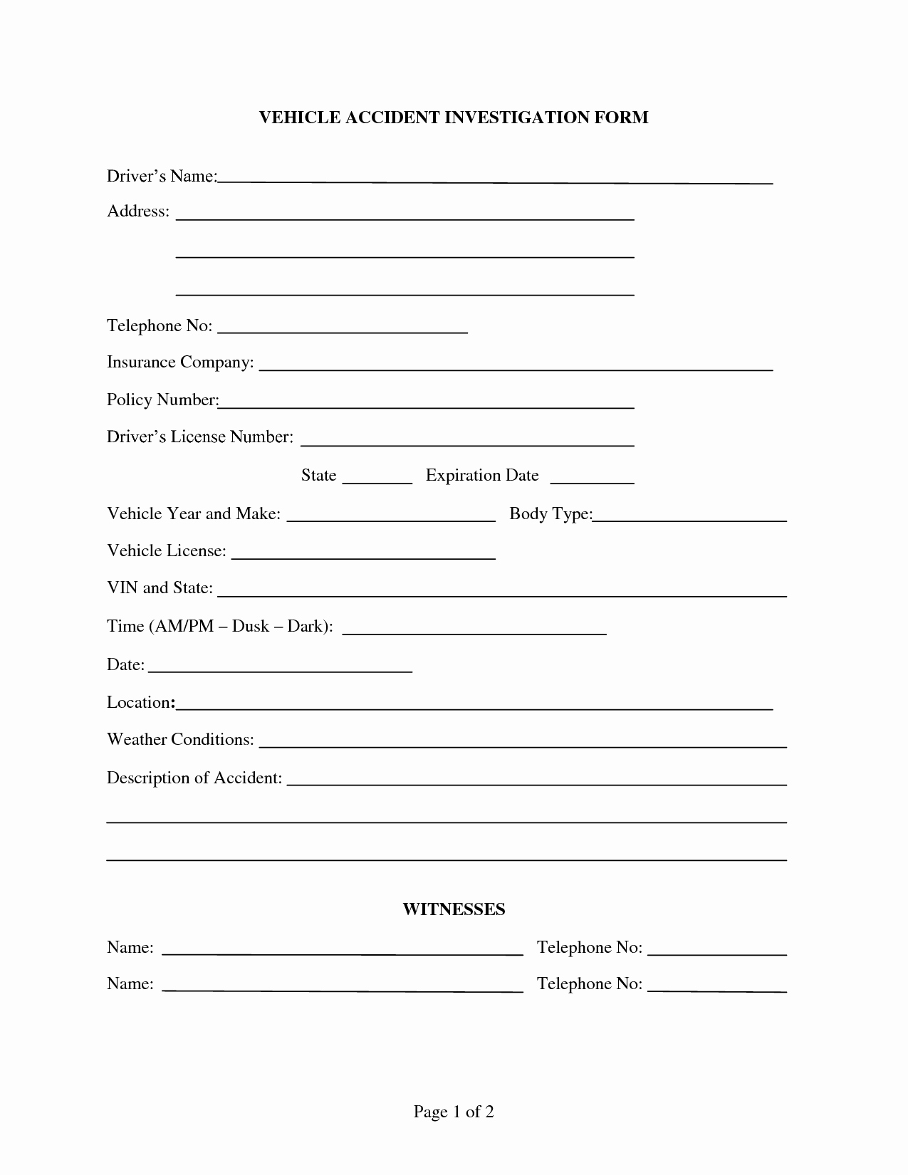 Best S Of Accident form Template In Word Accident