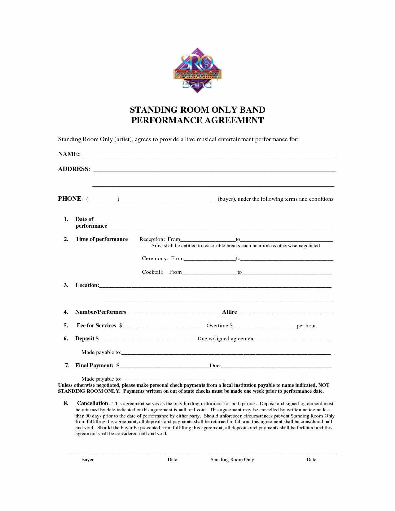 Best S Of Artist Performance Contract Artist