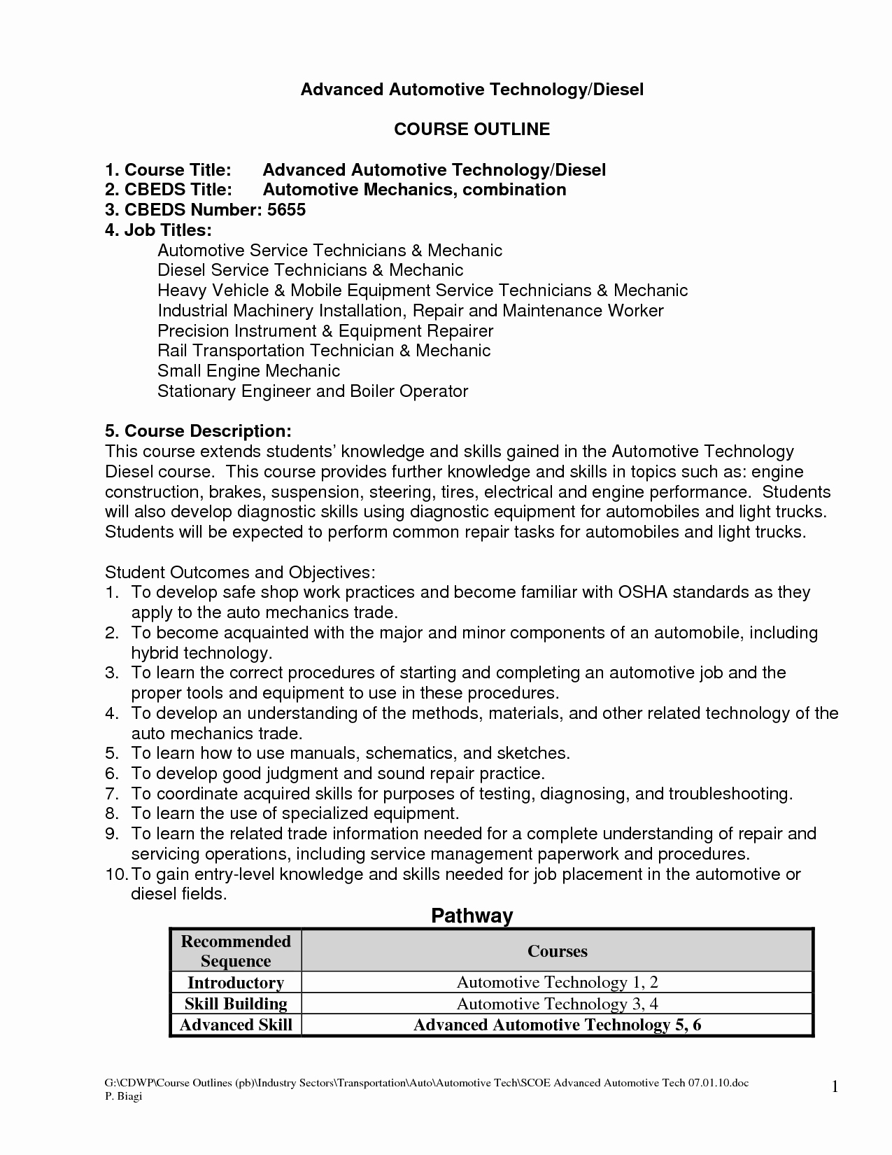 Best S Of Auto Technician Resume Objective Mechanic