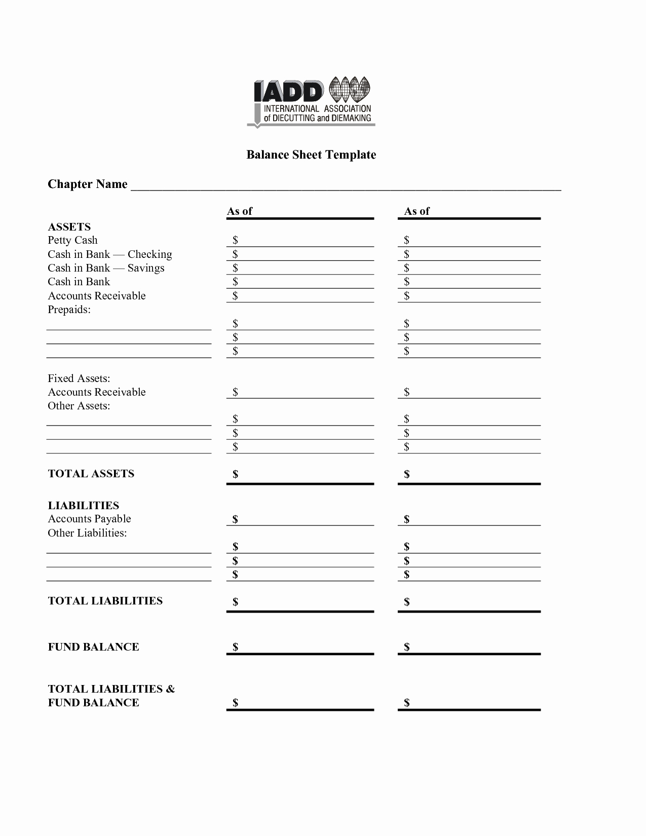 Best S Of Balance Sheet Template Pdf Simple Balance
