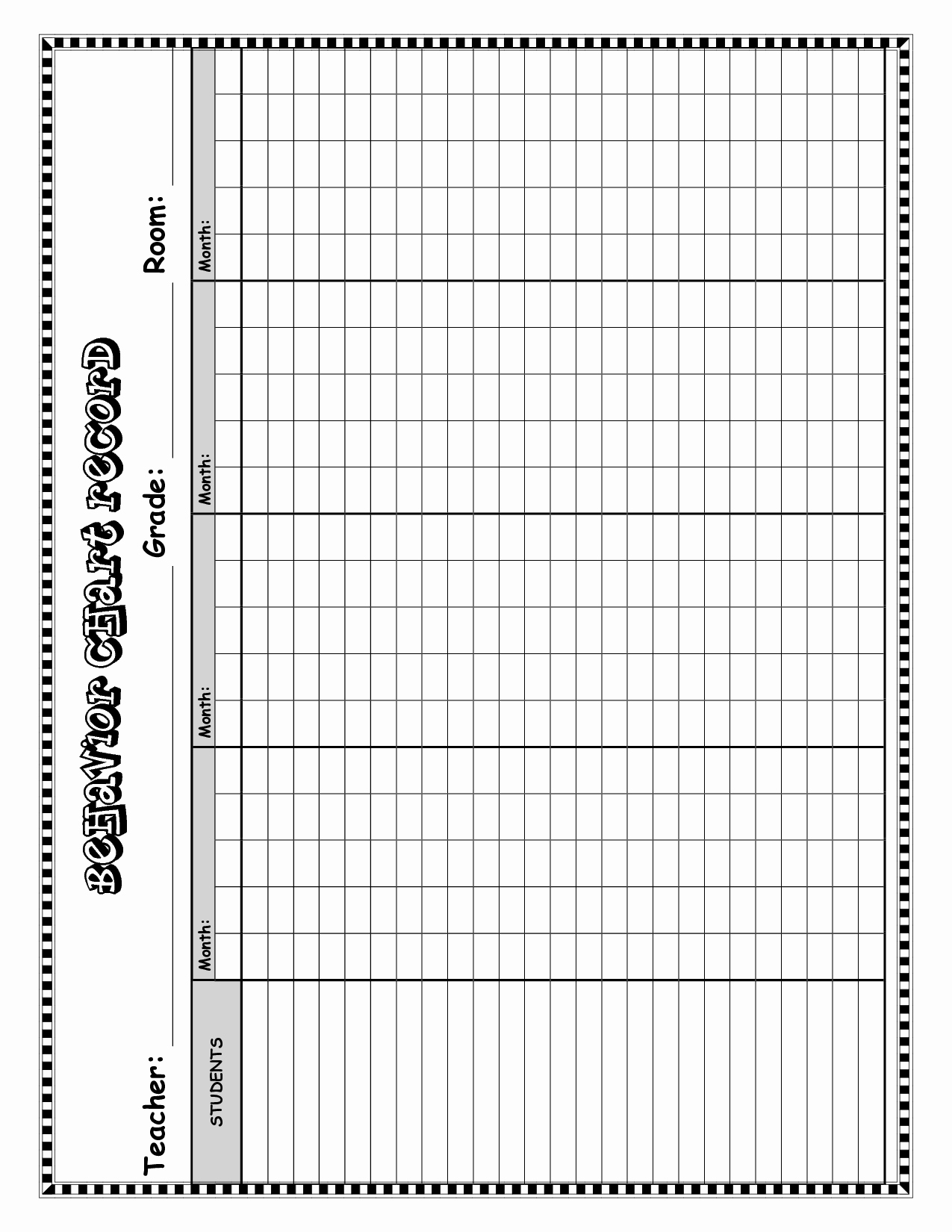 Best S Of Behavior Chart Template Good Behavior