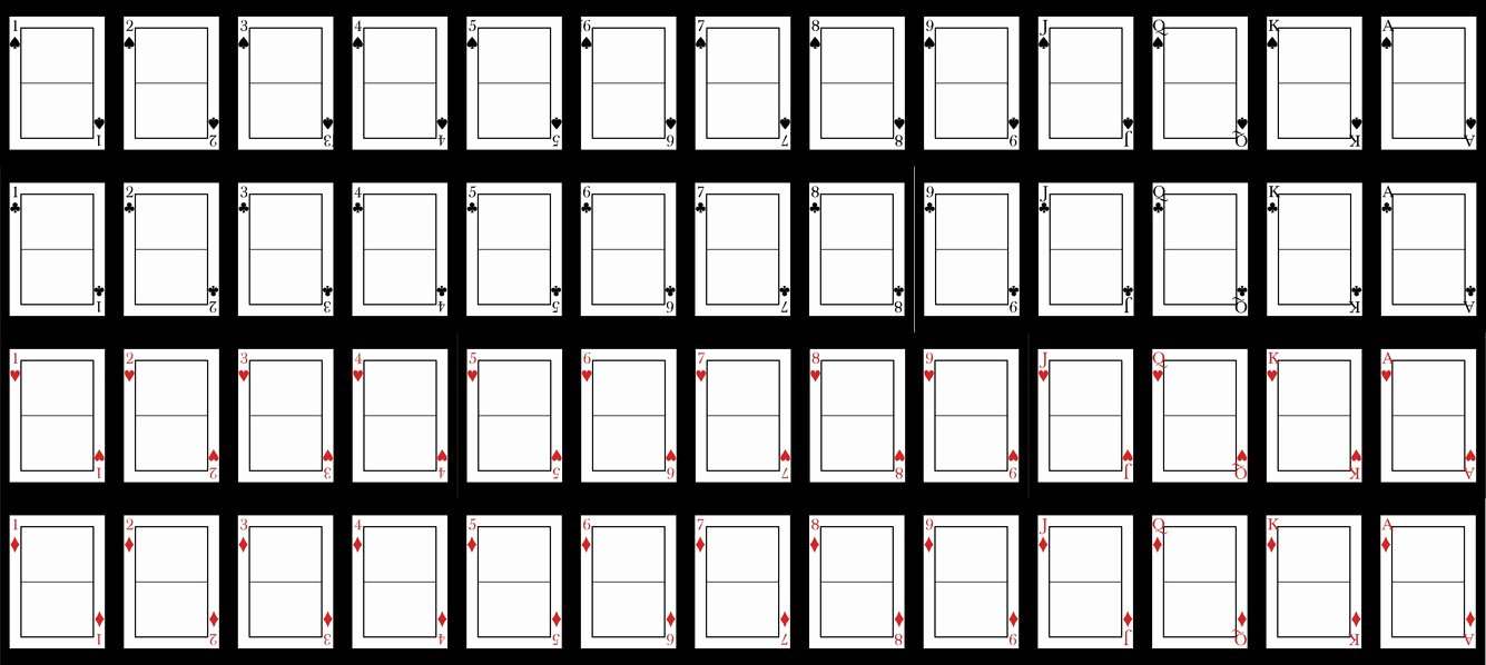 Best S Of Blank Deck Cards Template Printable