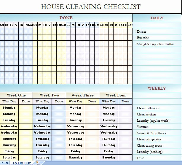 Best S Of Blank House Cleaning Checklist Free