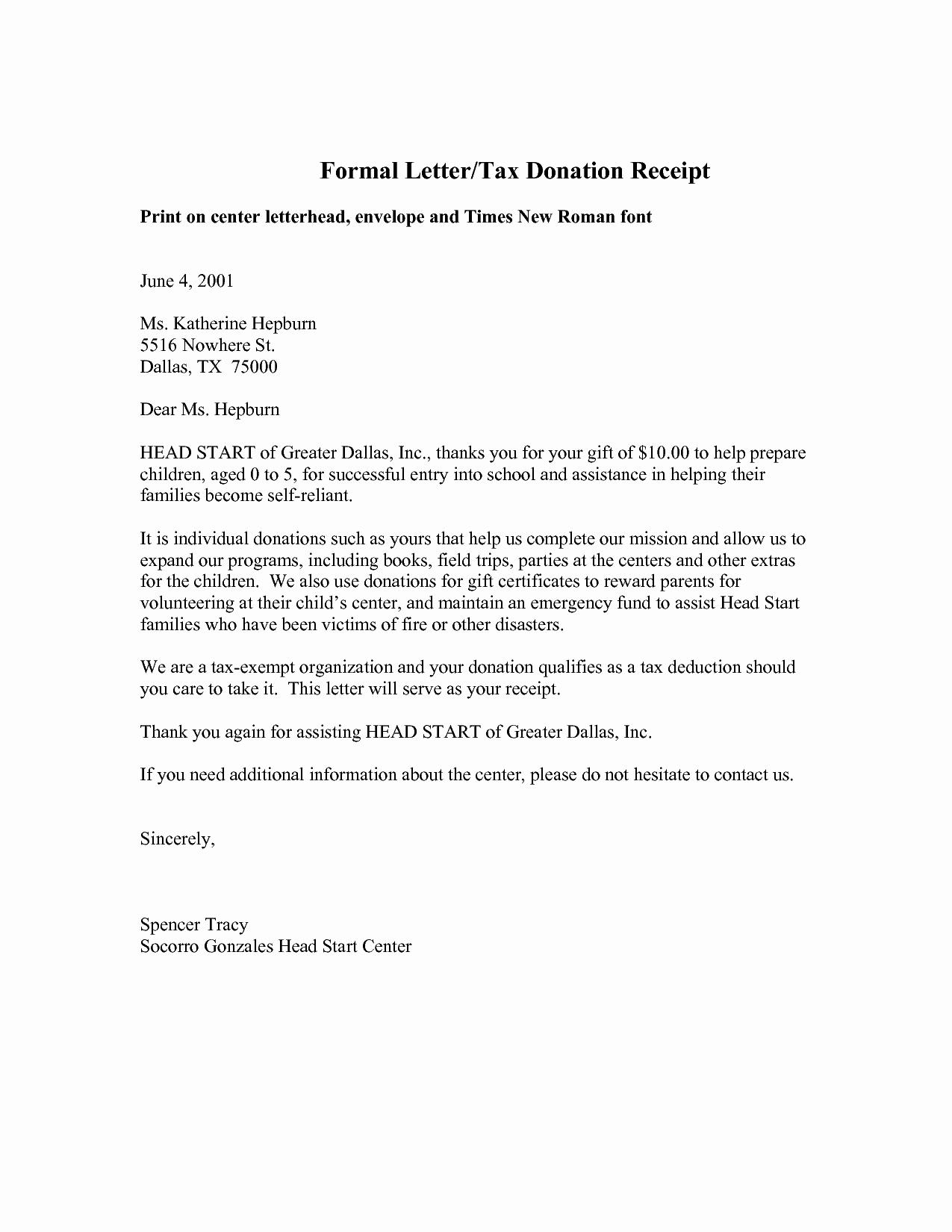 Best S Of Car Donation Letter Sample Donation