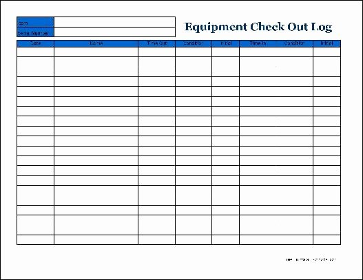 Best S Of Check Out Inventory Sheet Equipment Check