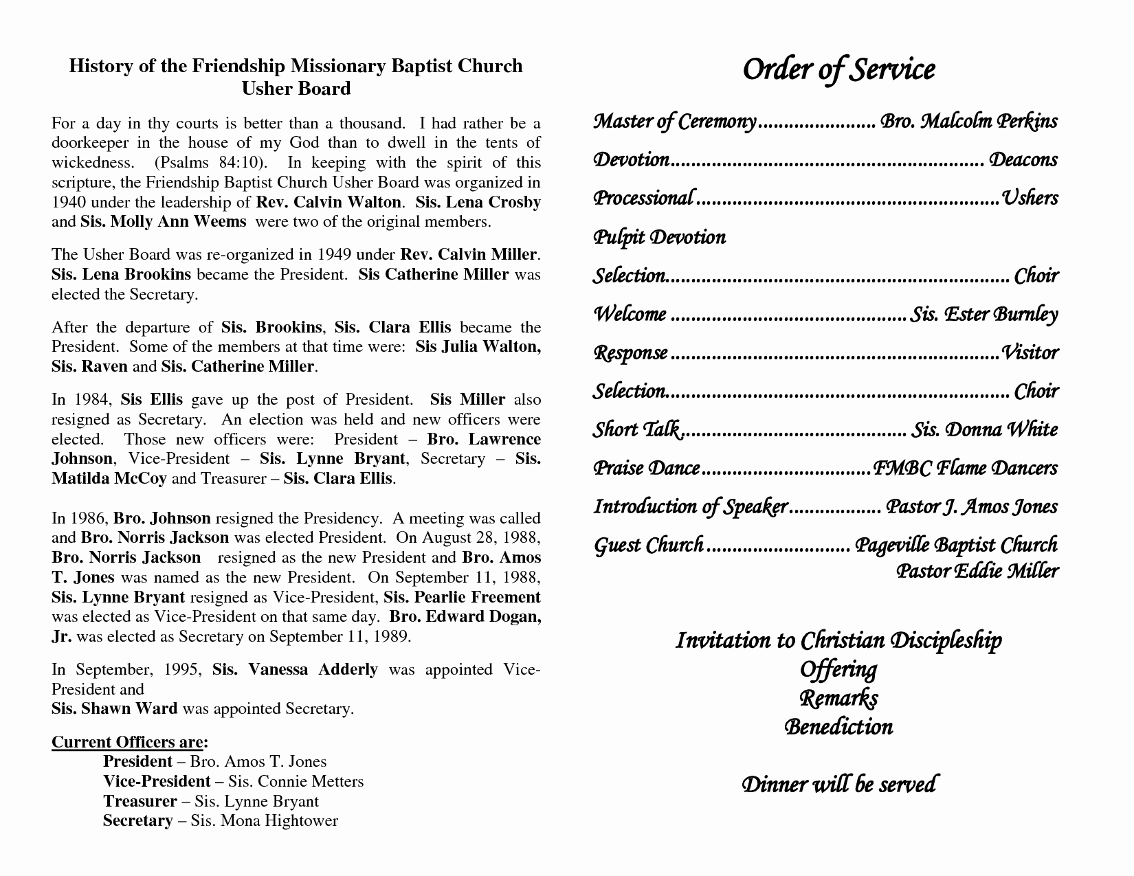 Best S Of Church Programs order Service Church