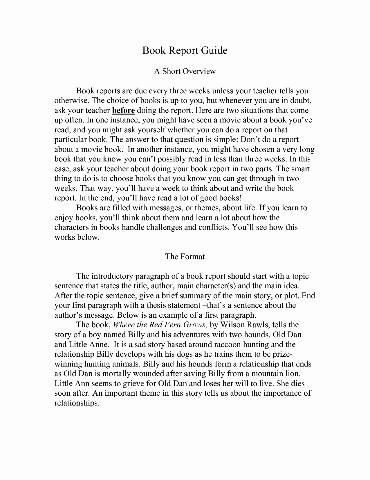 Best S Of College Book Report Template 6th Grade