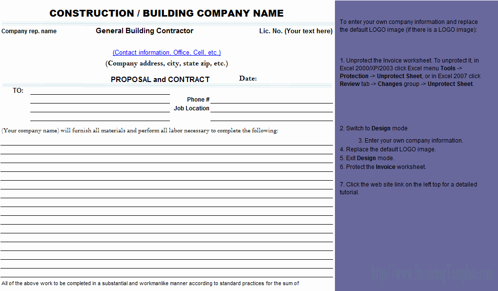 Best S Of Contractors Proposal Template Free