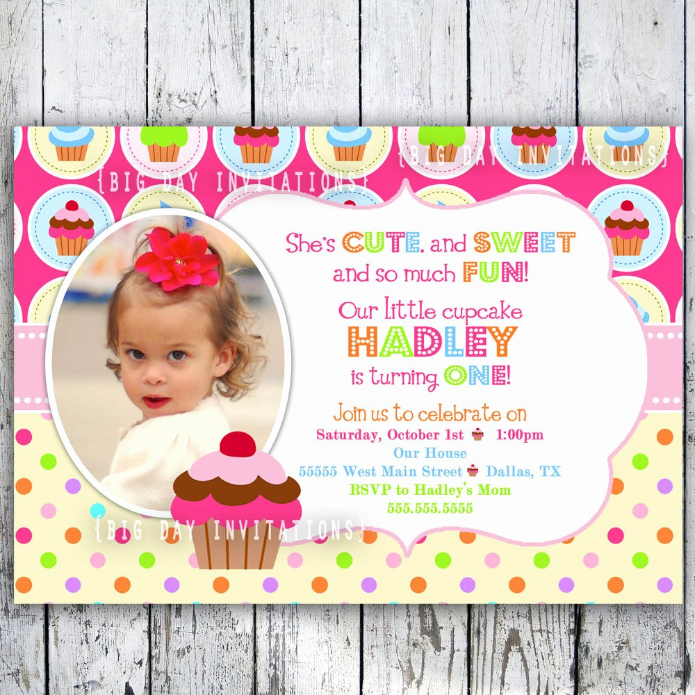 Best S Of Cupcake Birthday Party Invitation Templates