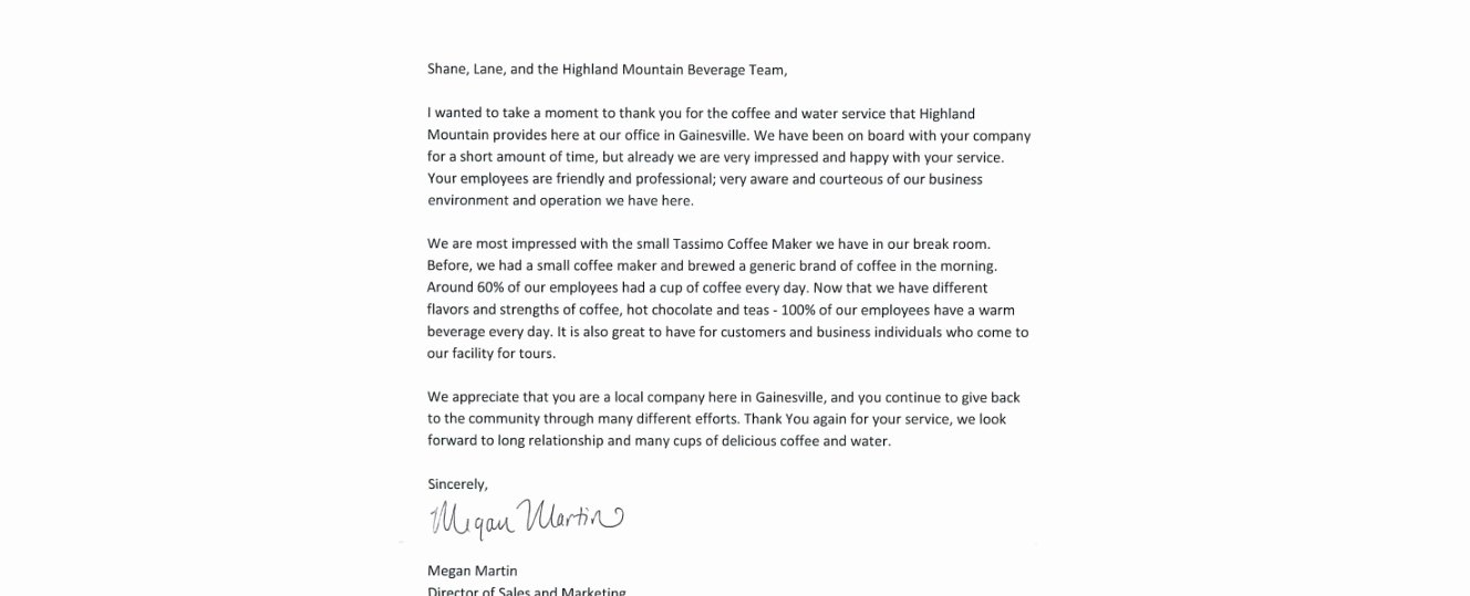 Best S Of Customer Appreciation Letter Template