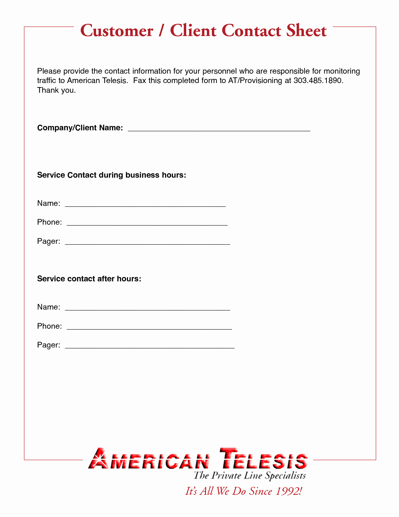 Best S Of Customer Contact form Template New