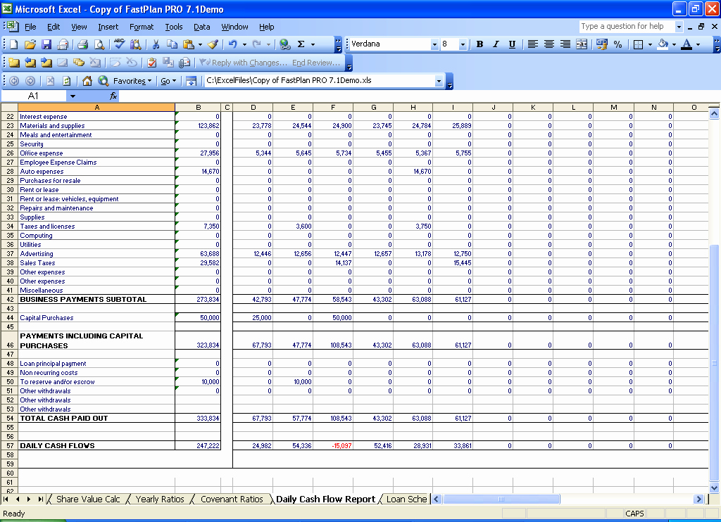Best S Of Daily Cash Flow Spreadsheet Daily Cash