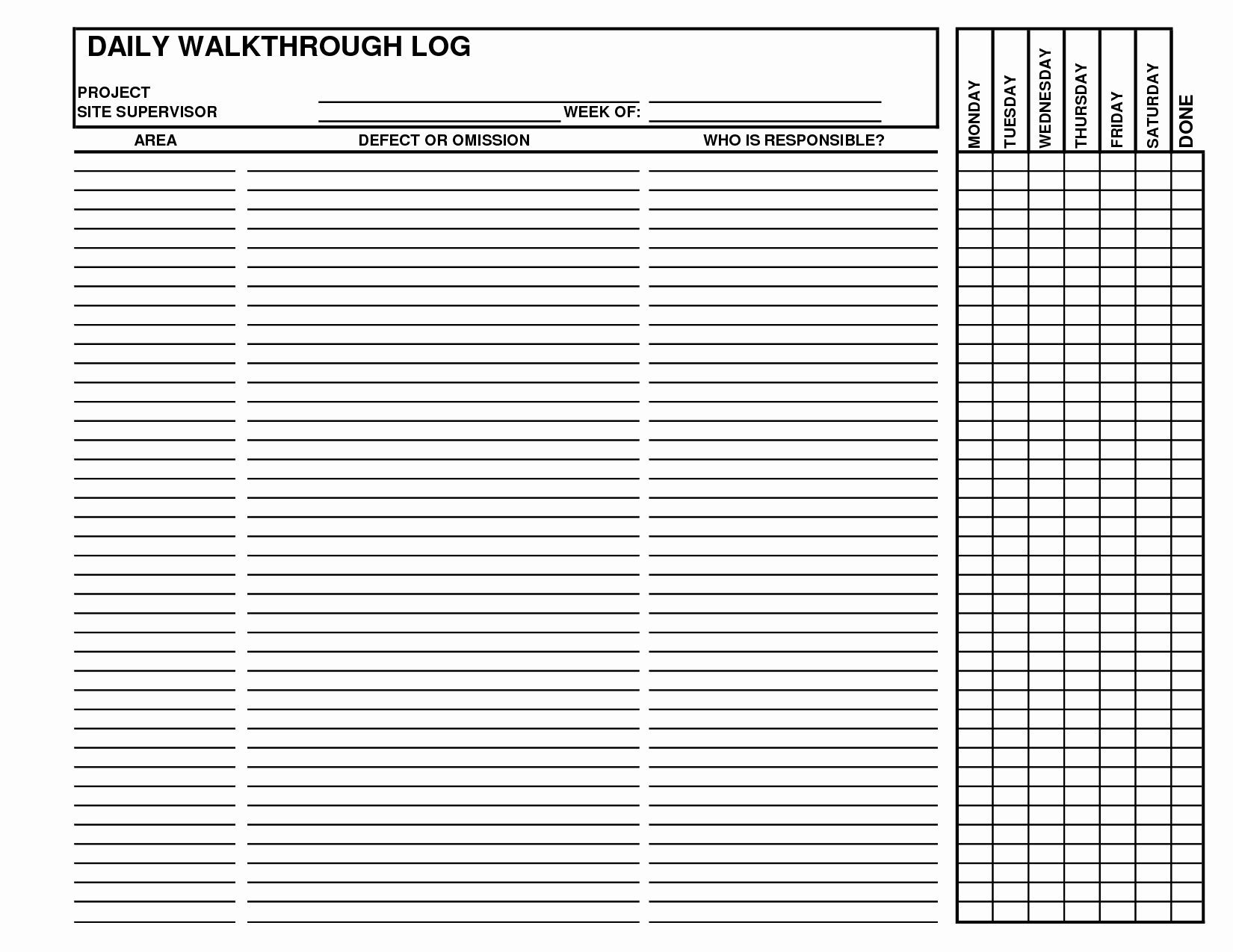 Best S Of Daily Log Examples Daily Log Book
