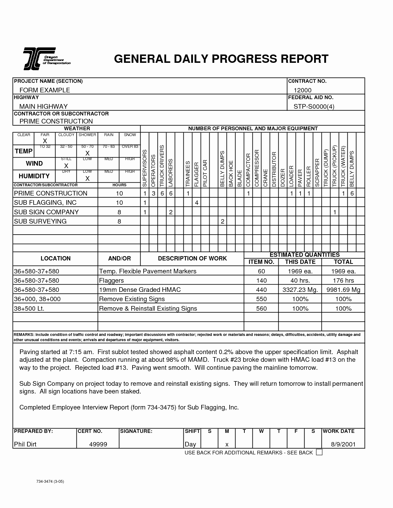 Best S Of Daily Progress Report Template Daily