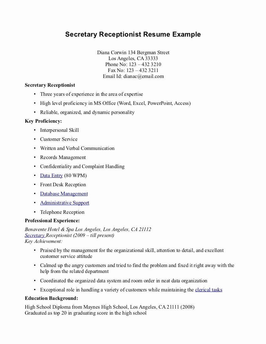 Best S Of Dental Receptionist Resume Sample Dental