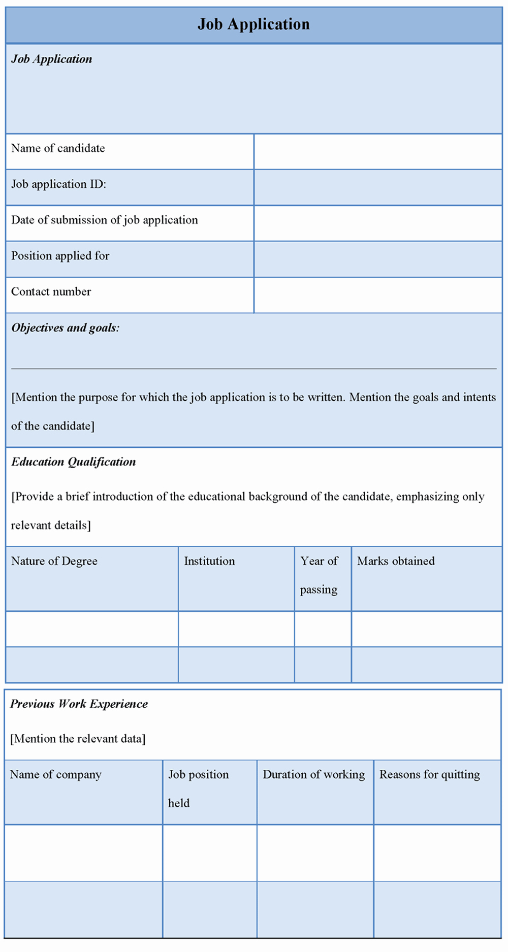 Best S Of Editable Employment Application Job