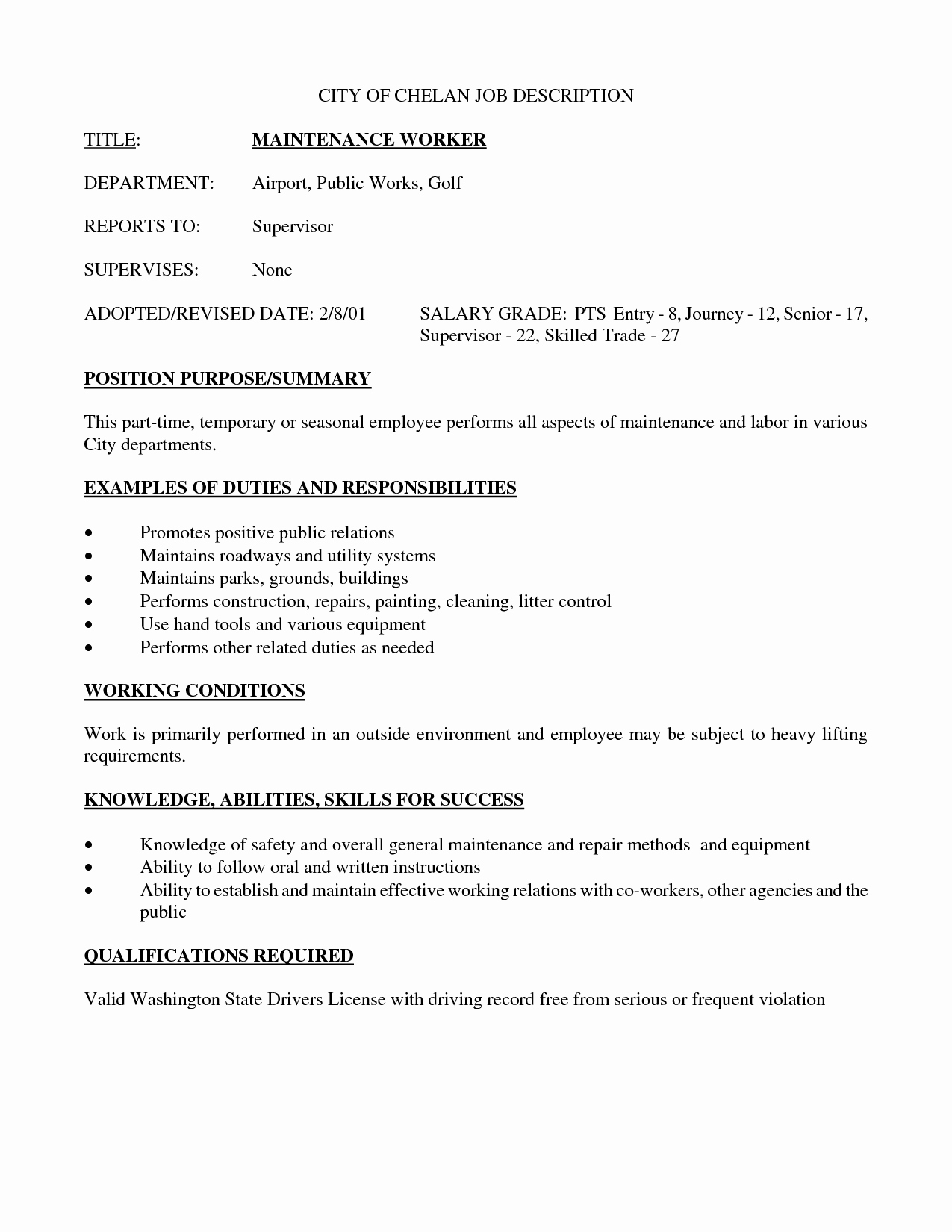 Best S Of Employee Job Description Sample Resume