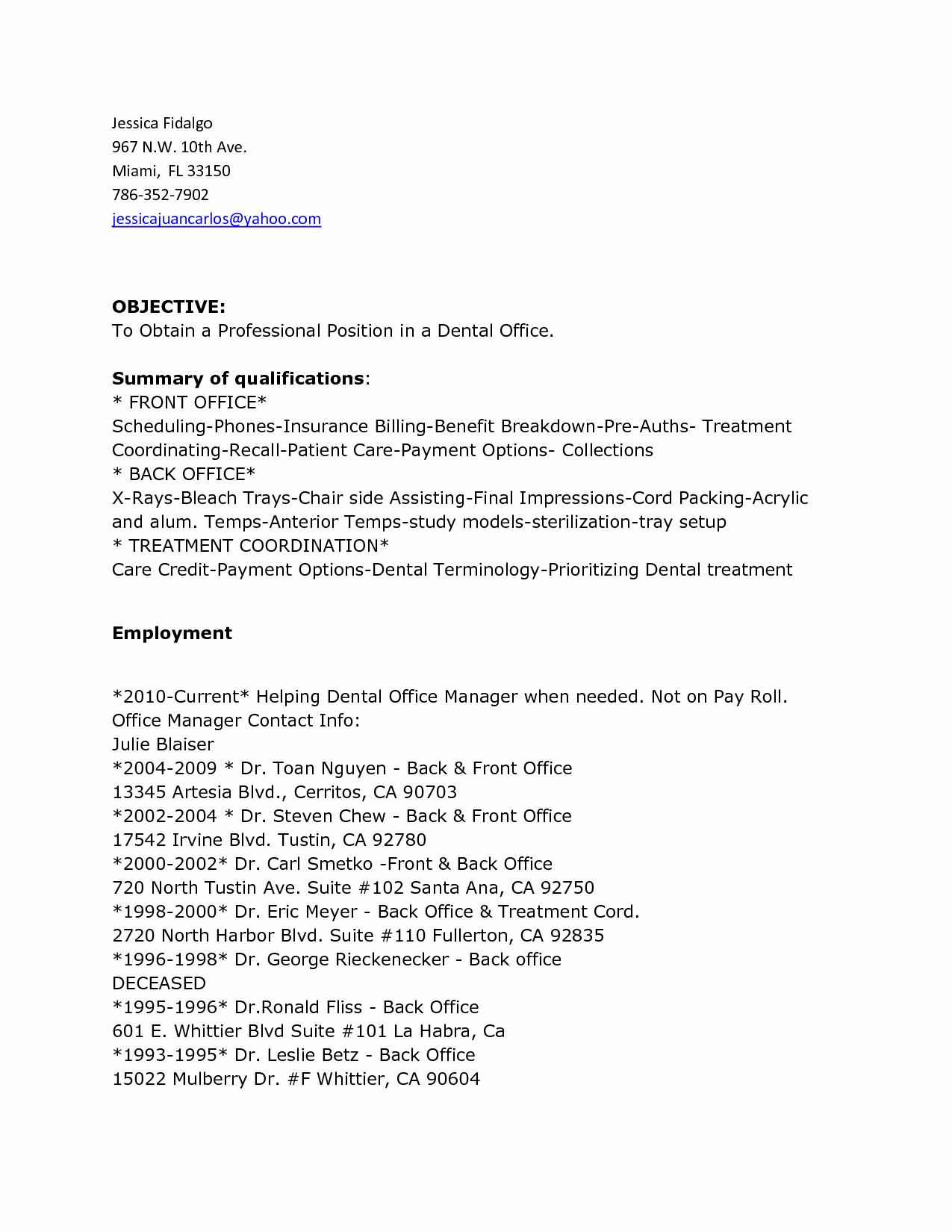 Best S Of Fice Clerk Resume Templates General