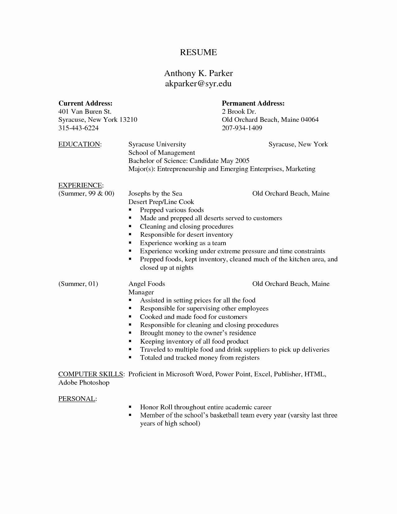 Best S Of Fill In Blank Printable Resume Free