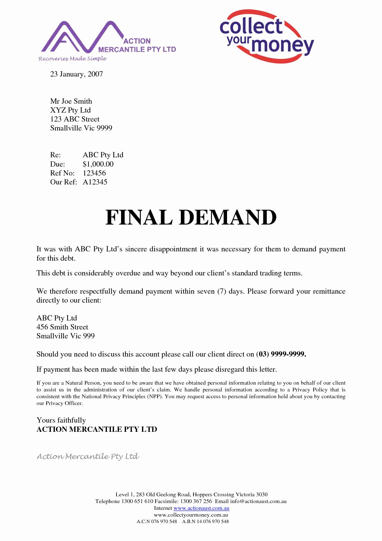 Best S Of Final Demand Letter Final Demand Letter