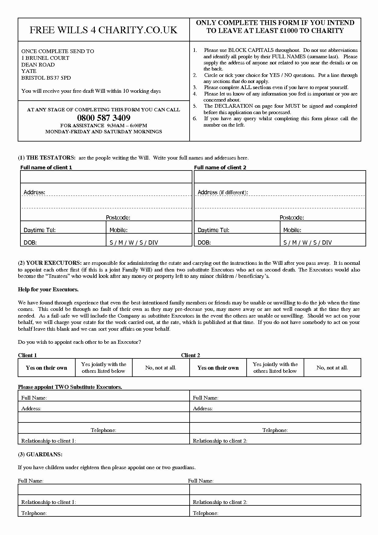 Best S Of Free Printable Legal Wills Free Printable