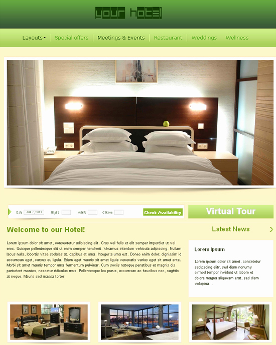 Best S Of Hotel Website Templates Free Download