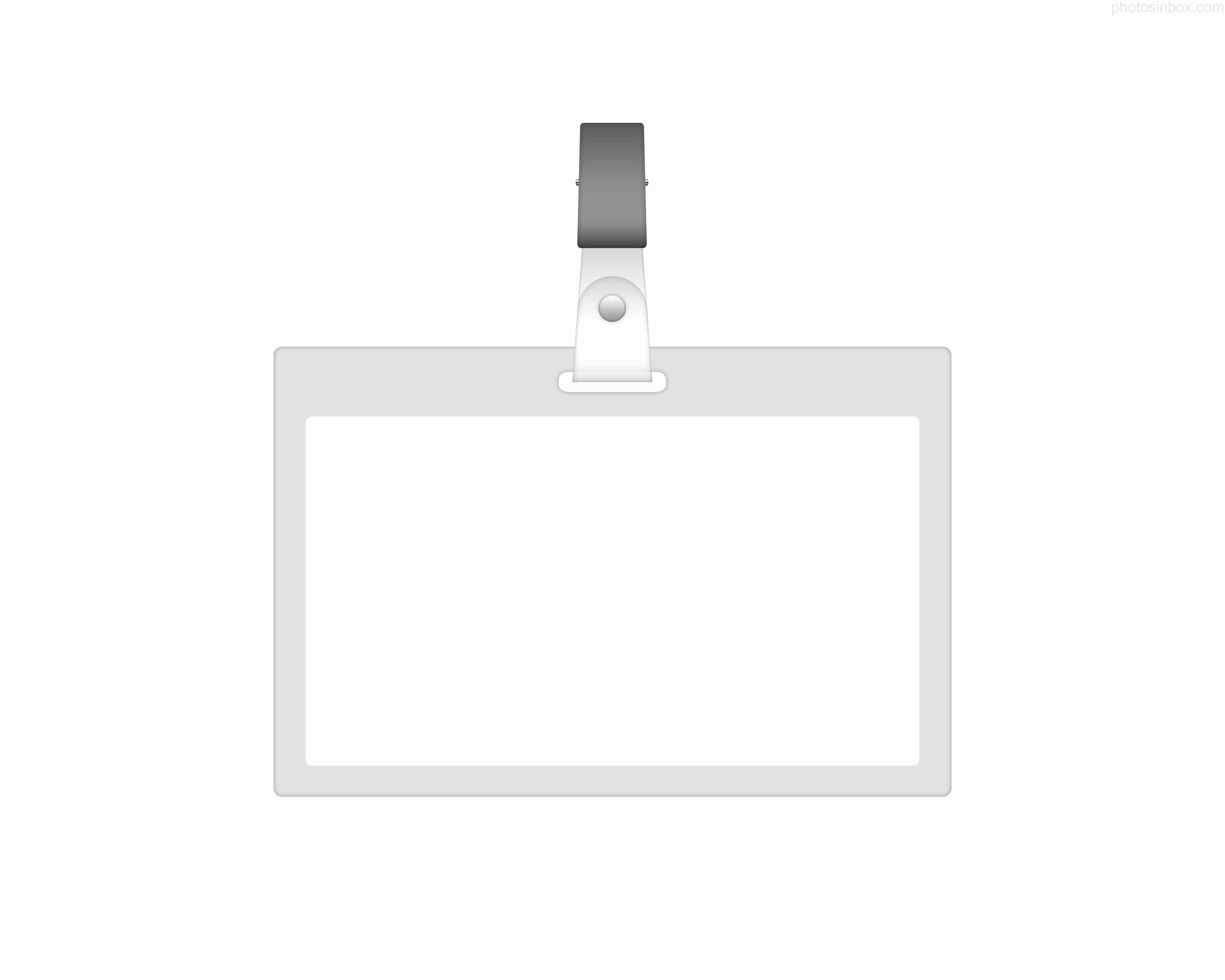 post id badge template