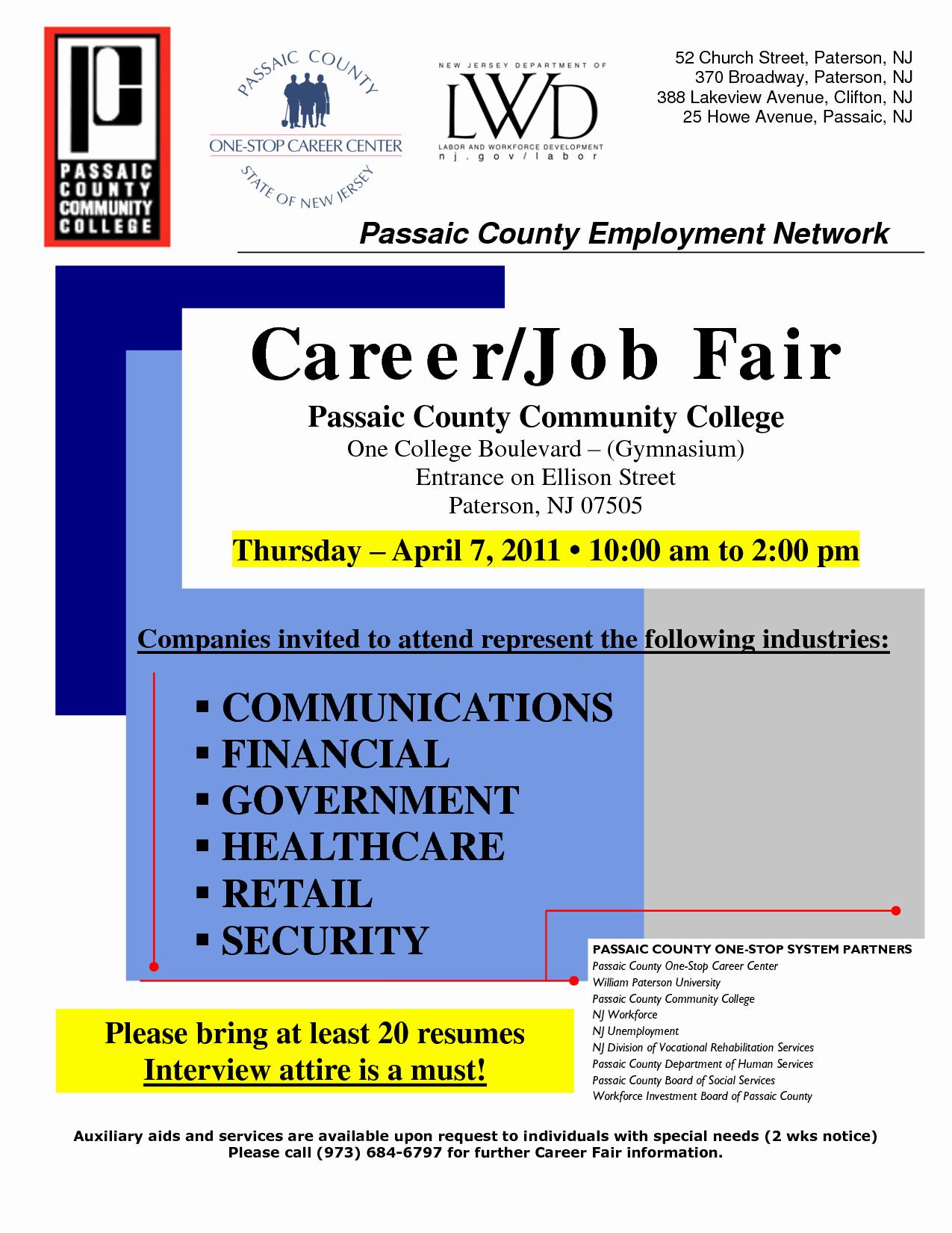 Best S Of Job Fair Flyer Template Job Fair Flyer
