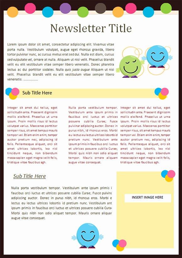 Best S Of Kindergarten Newsletter Templates Word Doc