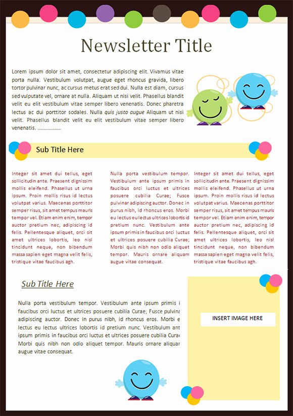 Best S Of Kindergarten Newsletter Templates Word Doc