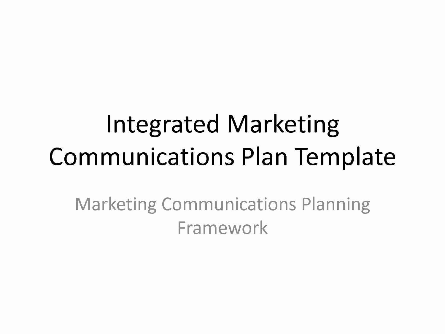 Best S Of Marketing Munication Plan Template