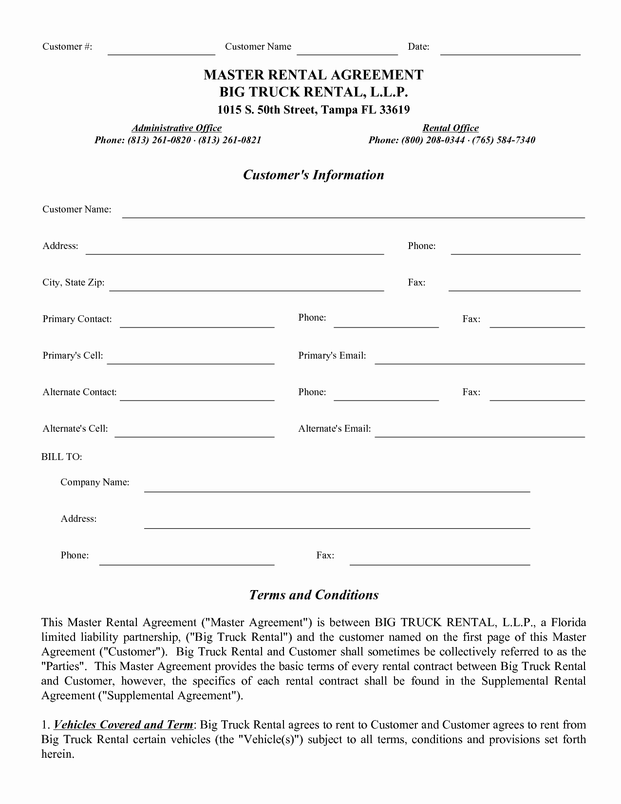 post mercial truck lease agreement form