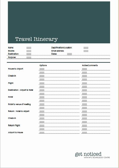 Best S Of Microsoft Travel Itinerary Template