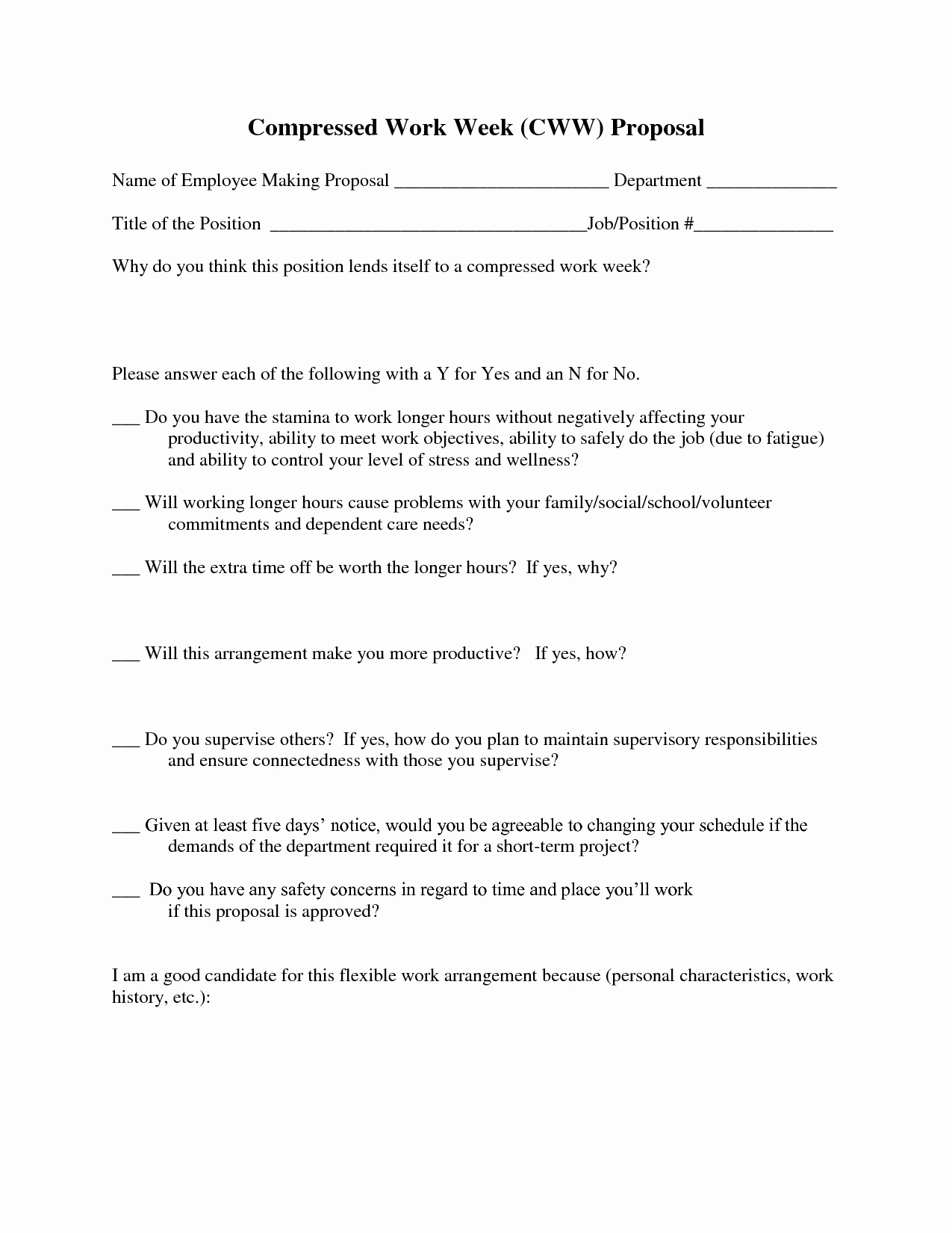 Best S Of New Position Proposal Template New Job