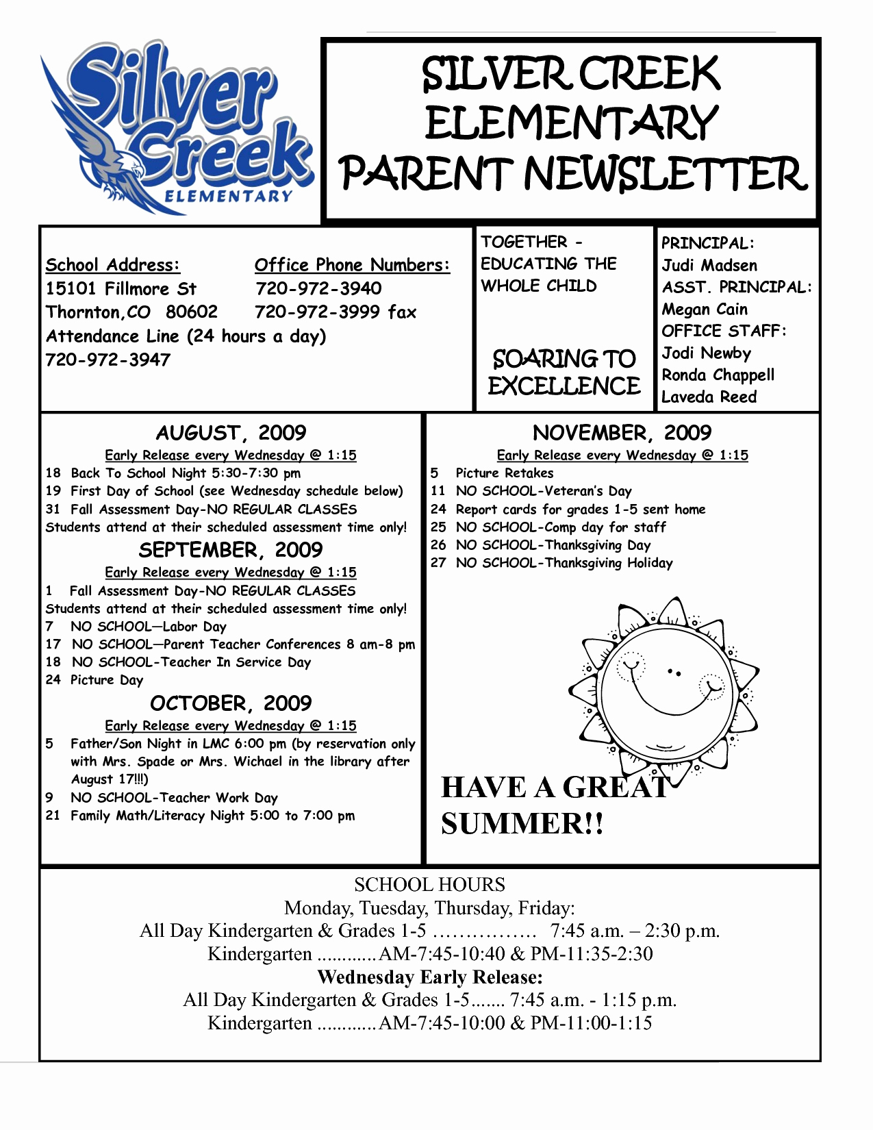 Best S Of Parent Newsletter Examples Sample Parent