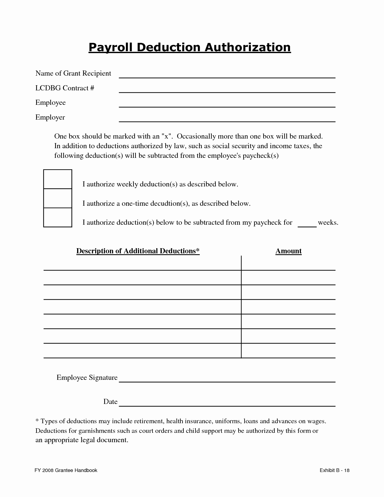 Best S Of Payroll Deduction form Template Payroll