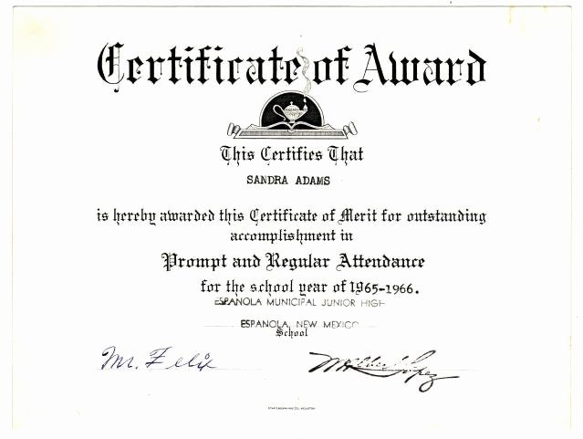 Best S Of Perfect attendance Certificate Template