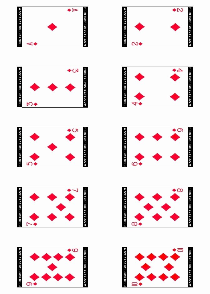 Best S Of Playing Card Templates for Word Playing