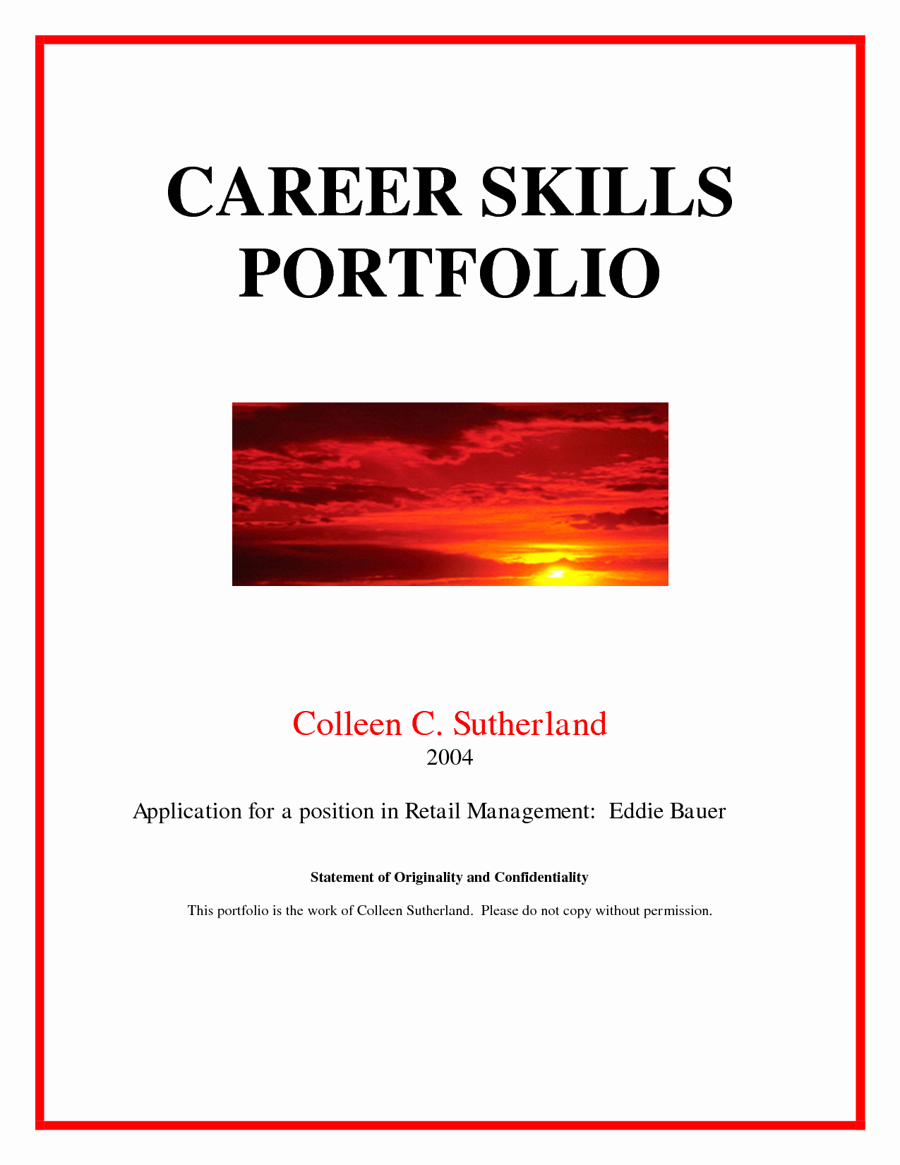 Best S Of Portfolio Cover Page Template Career