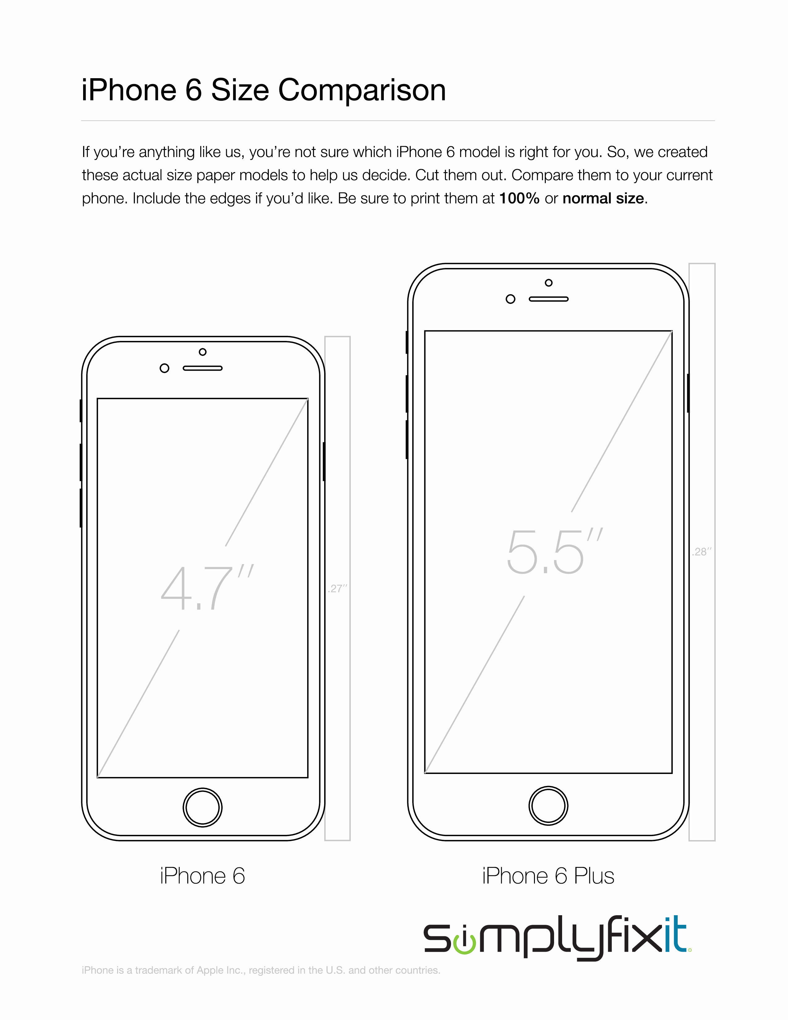 Best S Of Print Template Cut Out iPhone 6 Plus