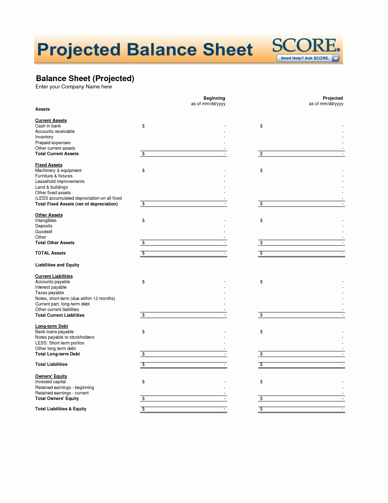 Best S Of Printable Balance Sheet Pdf Printable